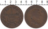 Изображение Монеты Швеция 1 скиллинг 1836 Медь XF-