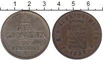 Изображение Монеты Саксония 2 гроша 1853 Серебро XF