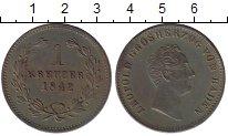 Изображение Монеты Баден 1 крейцер 1842 Медь XF