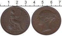 Изображение Монеты Великобритания 1 фартинг 1847 Медь XF