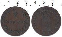 Изображение Монеты Германия Баден 1/2 крейцера 1825 Медь VF