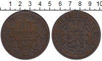 Изображение Монеты Люксембург 10 сантим 1870 Бронза XF-
