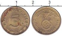 Изображение Монеты Третий Рейх 5 пфеннигов 1939 Латунь XF