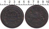 Изображение Монеты Индия 1/2 анны 1845 Медь VF
