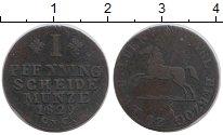 Изображение Монеты Брауншвайг-Вольфенбюттель 1 пфенниг 1829 Медь VF
