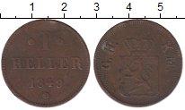 Изображение Монеты Гессен-Дармштадт 1 геллер 1849 Медь XF-