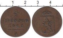 Изображение Монеты Рейсс 1/2 пфеннига 1841 Медь XF- Генрих LXII