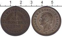 Изображение Монеты Саксония 1 грош 1870 Серебро XF-