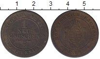 Изображение Монеты Саксония 1 грош 1863 Серебро VF