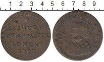 Изображение Монеты Ватикан 2 1/2 байоччи 1797 Медь XF