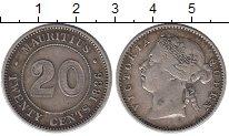 Изображение Монеты Маврикий 20 центов 1886 Серебро XF-