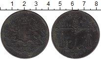 Изображение Монеты Индия 1/4 анны 1833 Медь VF
