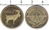 Изображение Монеты Нагорный Карабах 5 драм 2013 Латунь XF Горный козел