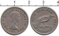 Изображение Монеты Новая Зеландия 6 пенсов 1953 Медно-никель XF