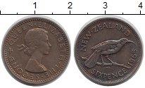 Изображение Монеты Новая Зеландия 6 пенсов 1965 Медно-никель XF