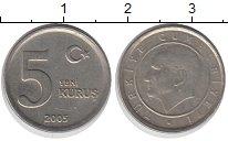 Изображение Монеты Турция 5 куруш 2005 Медно-никель VF