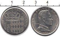 Изображение Монеты Монако 1 франк 1960 Медно-никель XF Принц Ранье III