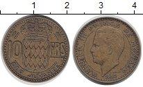 Изображение Монеты Монако 10 франков 1950 Латунь XF