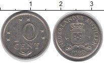 Изображение Монеты Антильские острова 10 центов 1980 Медно-никель XF Нидерландские Антиль