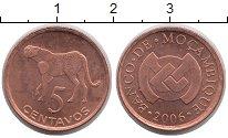 Изображение Монеты Мозамбик 5 сентаво 2006 Медь UNC- Леопард.