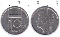 Изображение Монеты Нидерланды 10 центов 1986 Медно-никель XF