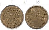 Изображение Монеты Франция 50 сантимов 1939 Латунь XF