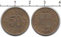 Изображение Монеты Исландия 50 аурар 1969 Латунь XF
