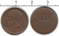 Изображение Монеты Бельгия 20 сентим 1960 Медь XF