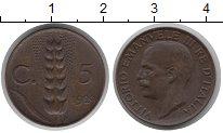 Изображение Монеты Италия 5 сентим 1929 Медь XF