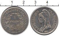 Изображение Монеты Франция 1 франк 1992 Медно-никель XF Марианна.