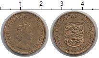 Изображение Монеты Остров Джерси 1/4 шиллинга 1957 Медь XF