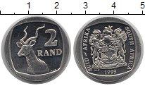 Изображение Монеты ЮАР 2 ранда 1993 Медно-никель XF
