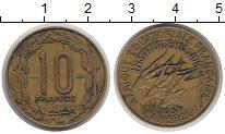 Изображение Монеты Камерун 10 франков 1958 Латунь