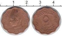 Изображение Монеты Египет 5 миллим 1938 Медь XF