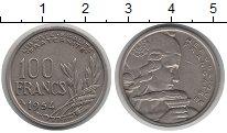 Изображение Монеты Франция 100 франков 1954 Медно-никель XF