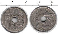 Изображение Монеты Испания 50 сентим 1949 Медно-никель XF