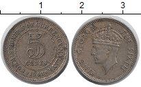 Изображение Монеты Малайя 5 центов 1948 Медно-никель XF