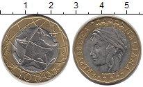 Изображение Монеты Италия 1000 лир 1998 Биметалл XF Единая Германия