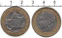 Изображение Монеты Италия 1000 лир 1998 Биметалл XF Объединенная Германи