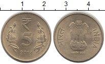 Изображение Монеты Индия 5 рупий 2014 Медно-никель VF