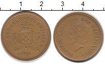 Изображение Монеты Антильские острова 1 гульден 1991 Латунь XF