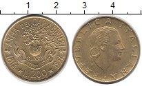 Изображение Монеты Италия 200 лир 1994 Латунь XF 180  лет  службе  ка
