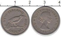 Изображение Монеты Новая Зеландия 6 пенсов 1960 Медно-никель XF