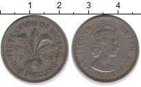 Изображение Монеты Нигерия 1 шиллинг 1962 Медно-никель XF