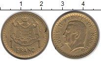 Изображение Монеты Монако 1 франк 1945 Латунь XF