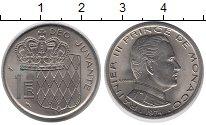 Изображение Монеты Монако 1 франк 1974 Медно-никель XF