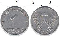 Изображение Монеты ГДР 1 пфенниг 1953 Алюминий