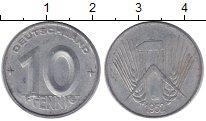 Изображение Монеты ГДР 10 пфеннигов 1952 Алюминий XF Первый герб ГДР
