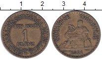 Изображение Монеты Франция 1 франк 1921 Латунь VF