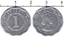 Изображение Монеты Белиз 1 цент 2002 Алюминий XF Елизавета II.